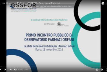 Su Youtube tutti gli interventi del I Incontro Pubblico di OSSFOR