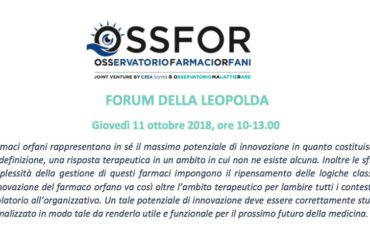 Forum della sanità della Leopolda a Firenze