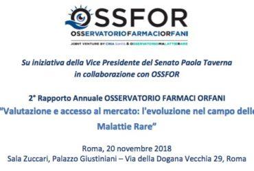 Il 20 novembre la presentazione del 2° Rapporto Annuale OssFor