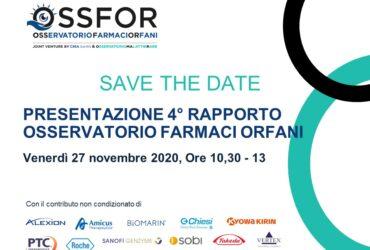 Presentazione del 4° Rapporto Annuale OSSFOR 2020 sui Farmaci Orfani e Malattie Rare.